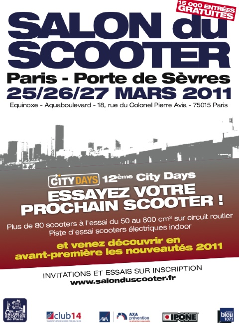 Salon du scooter paris ce week end moto magazine for Salon a paris ce weekend