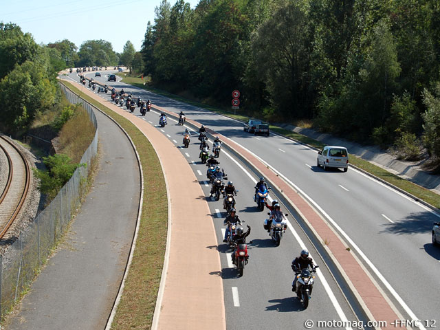Manifestation 10 septembre : 100 motos à Rodez