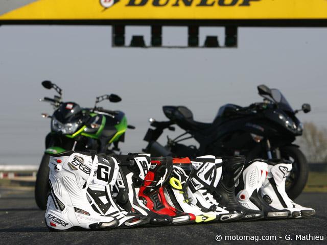 Test de 9 bottes moto racing  sur circuit et sur route