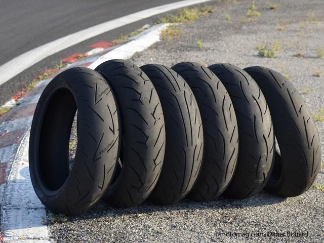pneus moto 6 gommes sport compar es sur piste moto. Black Bedroom Furniture Sets. Home Design Ideas