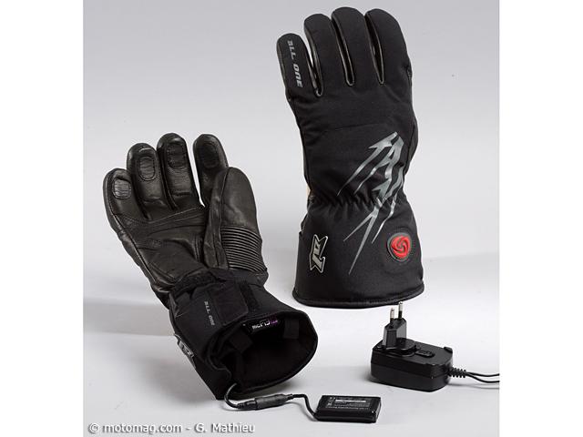 gants moto chauffants all one grizzly pour la ville moto magazine leader de l. Black Bedroom Furniture Sets. Home Design Ideas