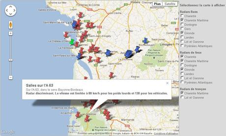 carte radars fixes italie