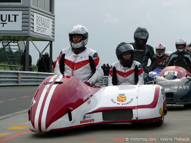 Side-cars VMA : 2e course 2013 en Haute-Saintonge