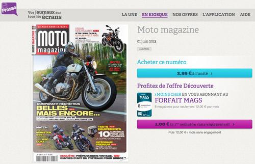 e presse moto magazine de juin disponible pour les moto magazine leader de l. Black Bedroom Furniture Sets. Home Design Ideas