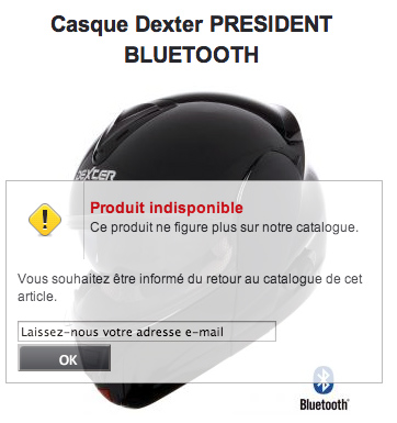 Le casque de F. Hollande en rupture de stock (...)