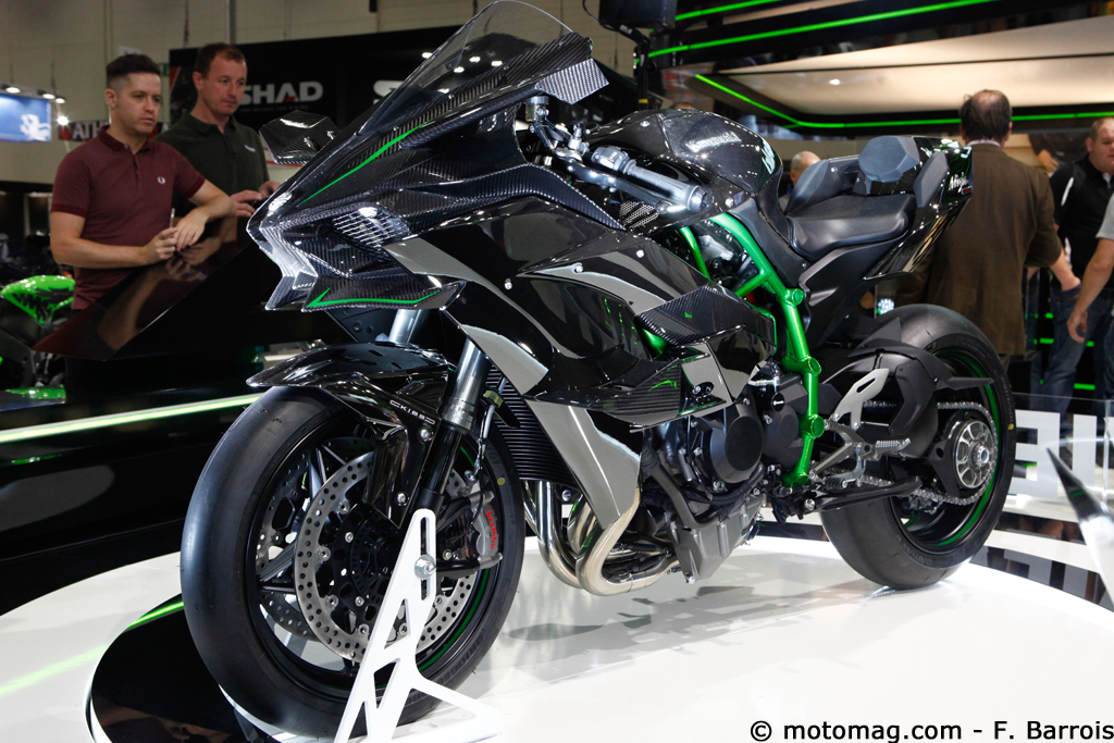 nouveaut moto 2015 kawasaki ninja h2r l 39 avion de chasse moto magazine leader de l. Black Bedroom Furniture Sets. Home Design Ideas