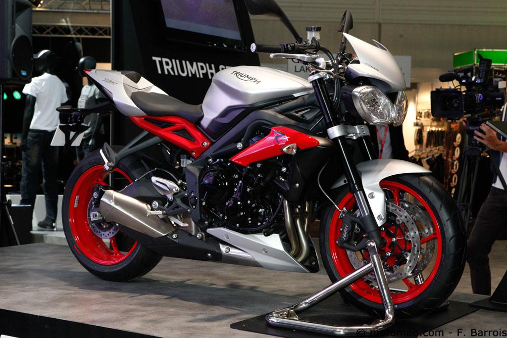 nouveaut moto 2015 triumph street triple rx accessoirement moto magazine leader de l. Black Bedroom Furniture Sets. Home Design Ideas
