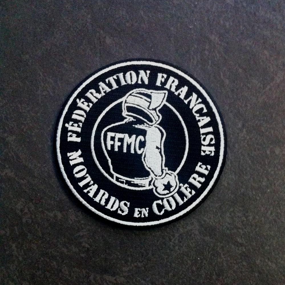 Patch brod ffmc f d ration fran aise des motards en for Ecusson a coudre yamaha