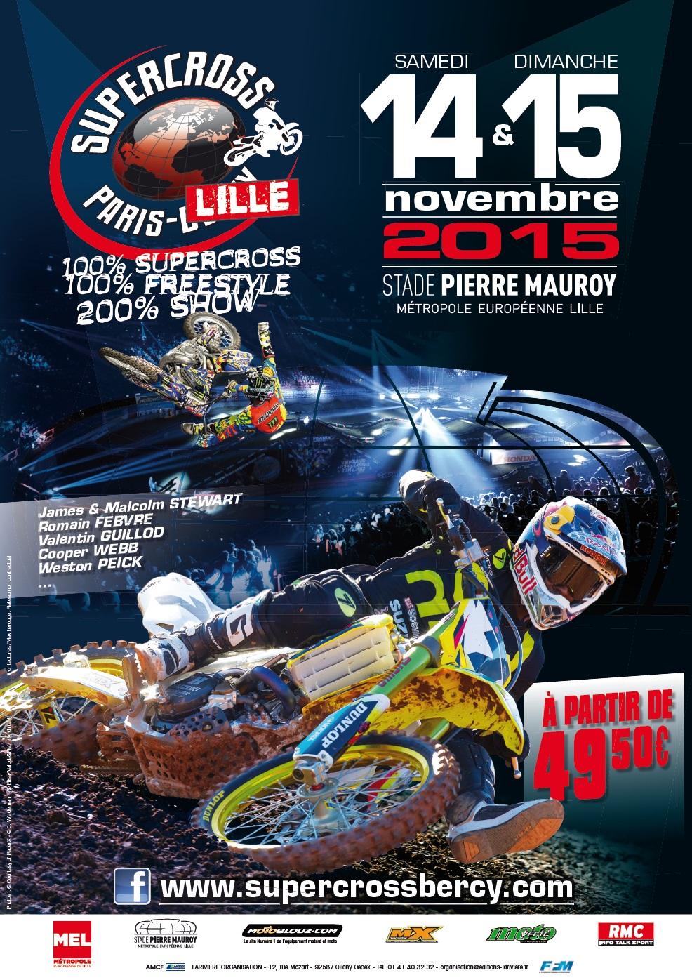 supercross de paris lille 2015 pr t pour le show moto magazine leader de l actualit. Black Bedroom Furniture Sets. Home Design Ideas