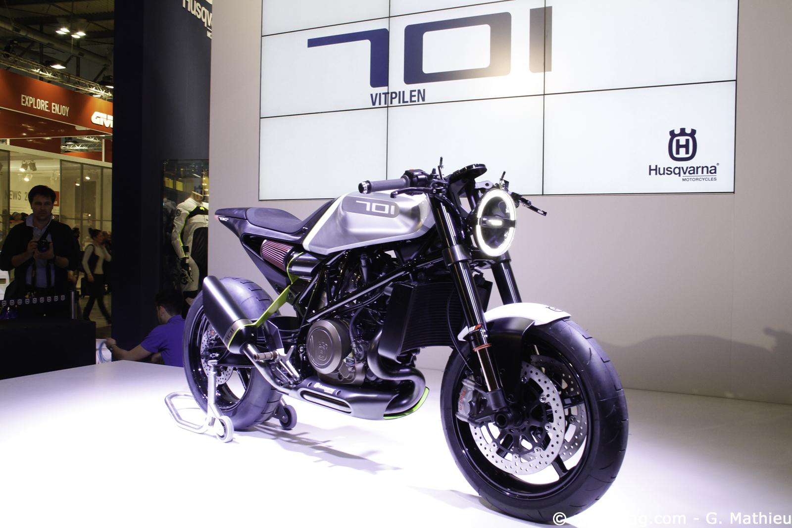 nouveaut s moto 2016 husqvarna vitpilen 701 moto magazine leader de l actualit de la moto. Black Bedroom Furniture Sets. Home Design Ideas