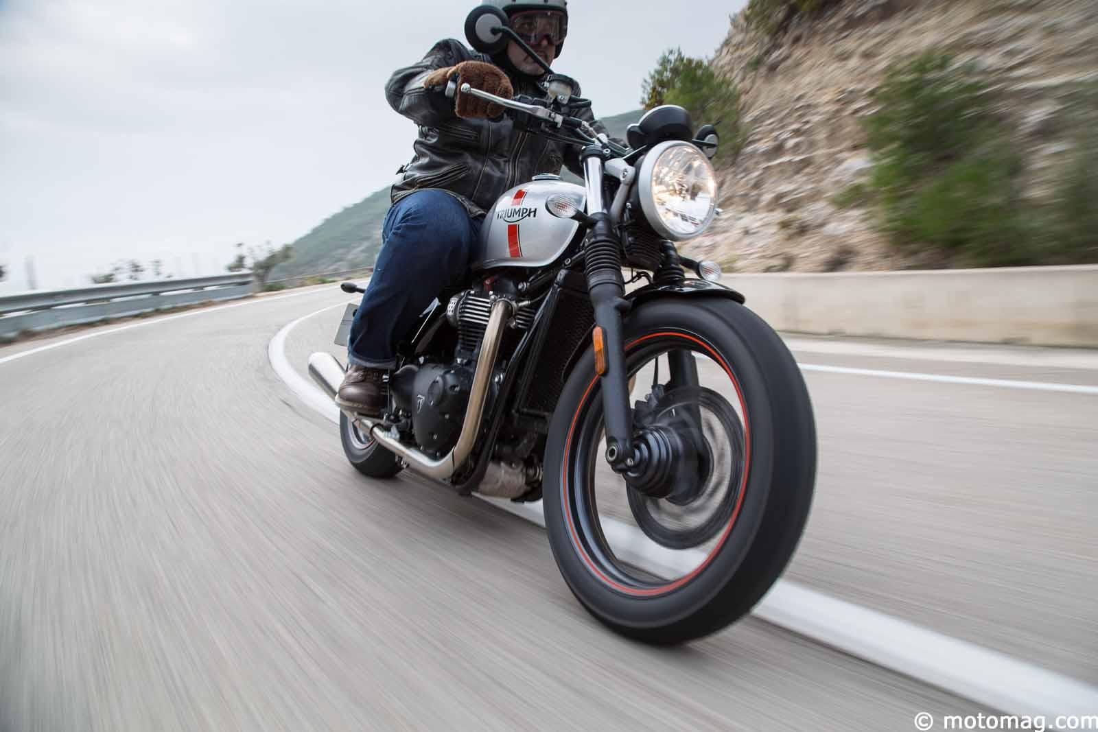 essai triumph street twin la bonneville 2 0 moto magazine leader de l actualit de la moto. Black Bedroom Furniture Sets. Home Design Ideas