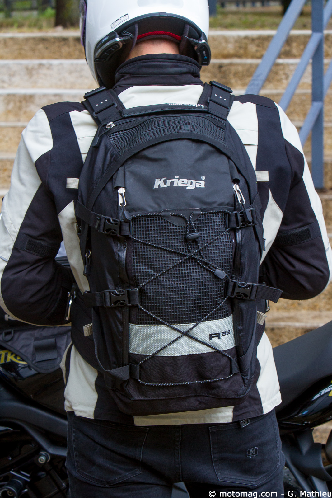 sac dos tanche pour usage moto kriega r 35 moto. Black Bedroom Furniture Sets. Home Design Ideas