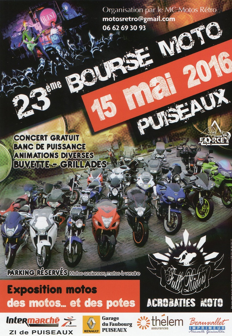 Latest e bourse moto de puiseaux dans le loiret with for Brocante loiret