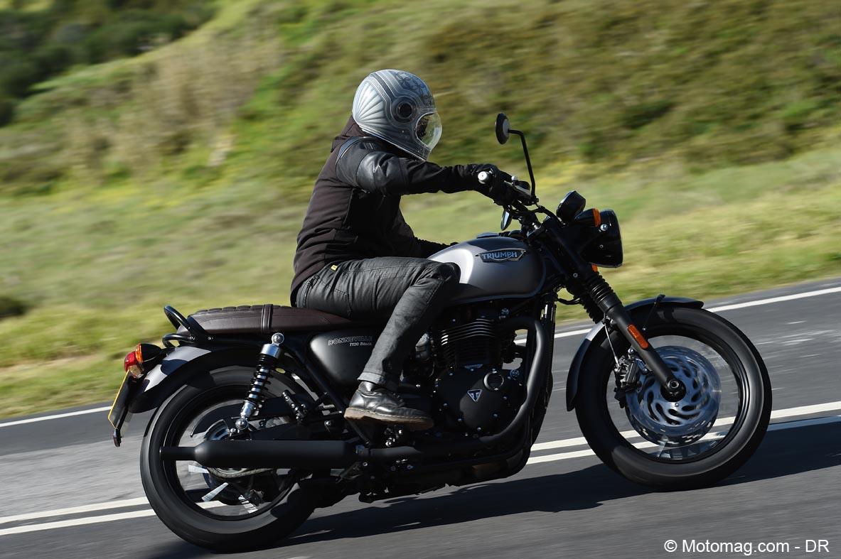 triumph bonneville t120 t120 black aussi n o que moto magazine leader de l. Black Bedroom Furniture Sets. Home Design Ideas