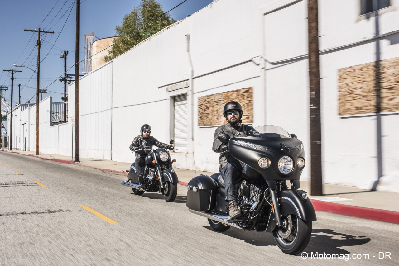 Indian Chieftain Dark Horse : pur bagger noir (...)