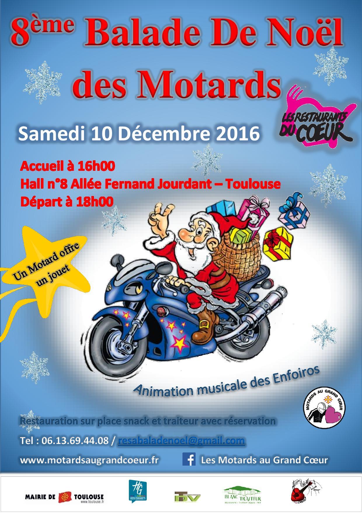 balade moto noel paris 2018 Balade de Noël des Motards au grand coeur à Toulouse ()   Moto  balade moto noel paris 2018