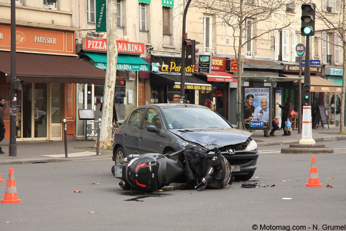 Accidents de la route : baisse des tués à moto et scooter (...)
