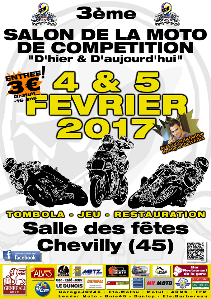 Salon de la moto de compétition : Chevilly (45) en pole (...)