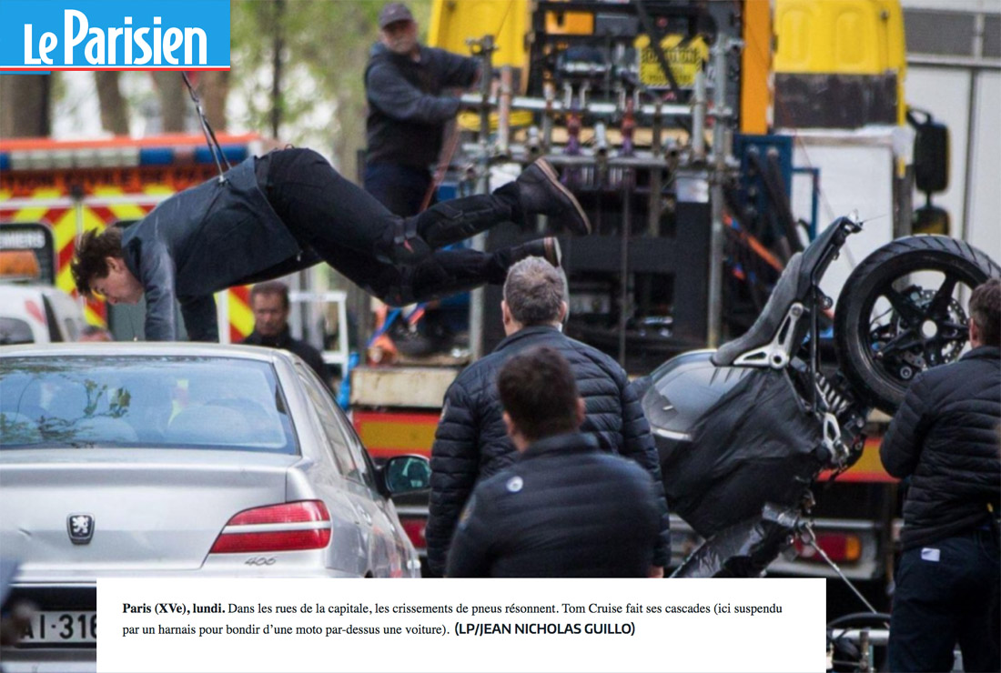 Cascade à moto de Tom Cruise dans « Mission Impossible 6 (...)