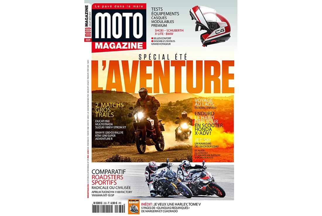 retrouvez moto magazine 339 en kiosque moto magazine leader de l actualit de la moto et du. Black Bedroom Furniture Sets. Home Design Ideas