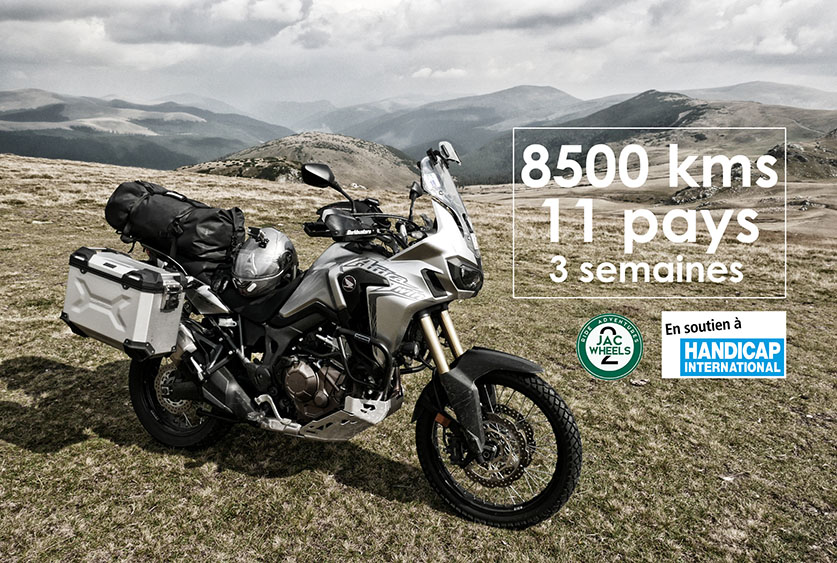 Un road trip moto de 8 500 km pour Handicap International