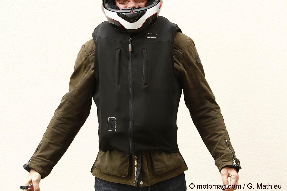 bering c protect air un gilet airbag filaire petit moto magazine leader de l. Black Bedroom Furniture Sets. Home Design Ideas
