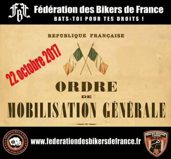 Manifestation nationale de la Fédération des Bikers de (...)