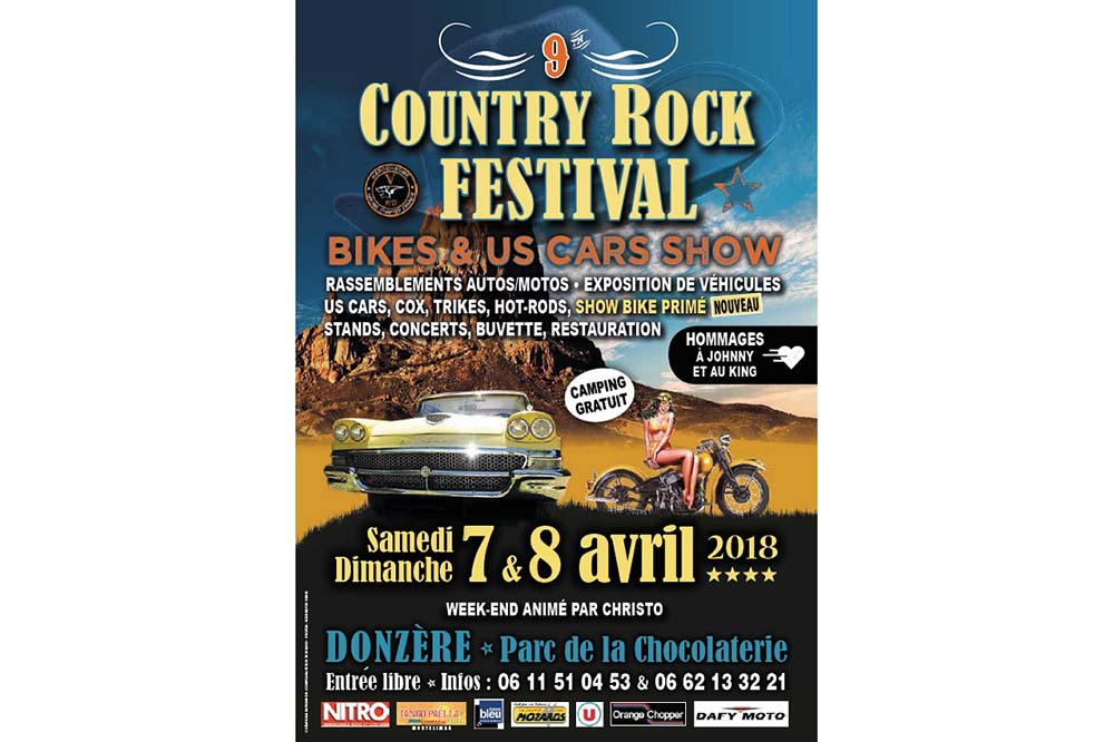9e Country rock festival bikes & us cars show (...)