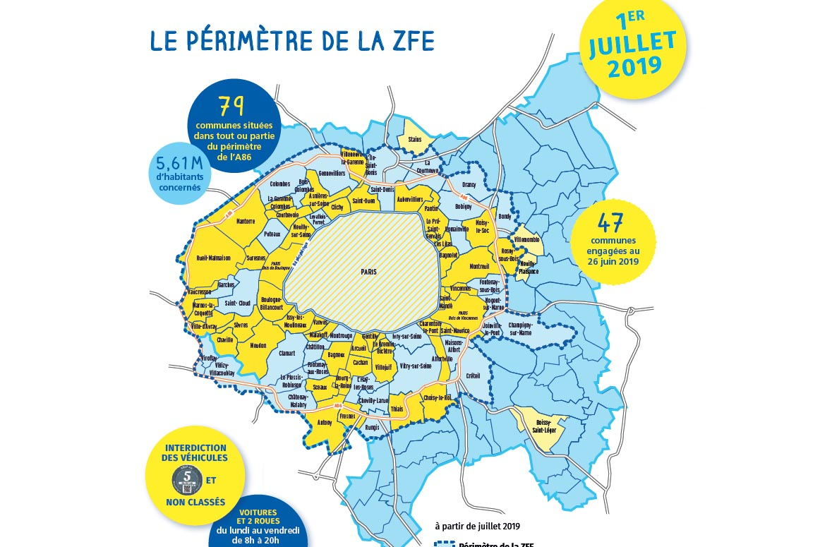Interdiction de circulation sur 47 communes franciliennes.