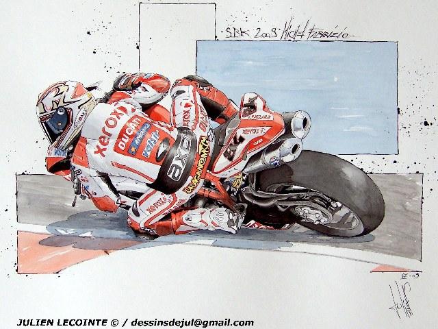 Zoom sur les dessins motos de jul 39 moto magazine - Dessin de motard ...