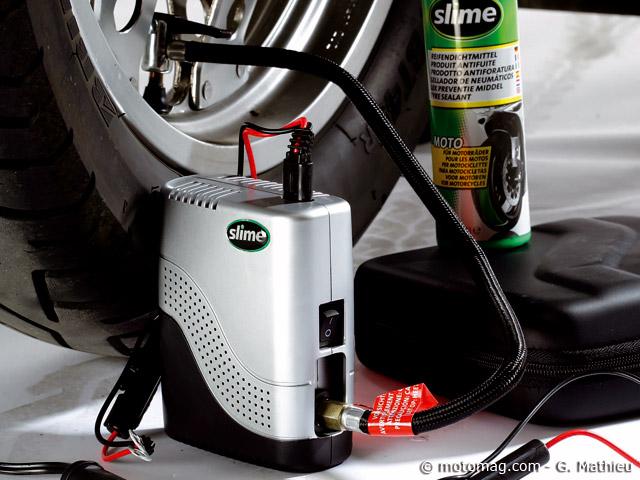 pneus moto pr venir la crevaison avec le kit slime smart. Black Bedroom Furniture Sets. Home Design Ideas