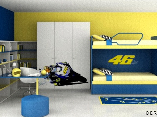 Valentino Rossi dans votre chambre à coucher