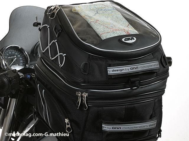 bagages moto les sacoches r servoir magn tiques double moto magazine leader de l. Black Bedroom Furniture Sets. Home Design Ideas
