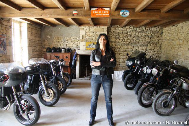 Portrait sandrine dor la jolie bricoleuse et ses triumph moto magazine leader de l - La maison de la moto ...