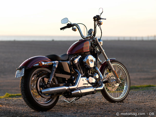 News 2012 Harley Sportster 72 : ambiance côte ouest