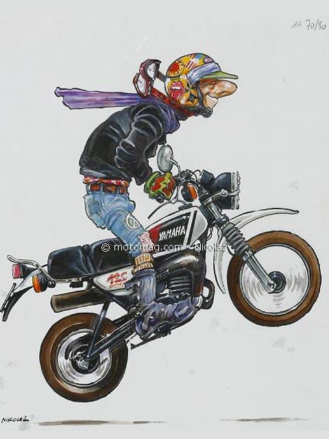 Bd moto les dessins originaux de nikolaz sur e bay - Dessin de motard ...