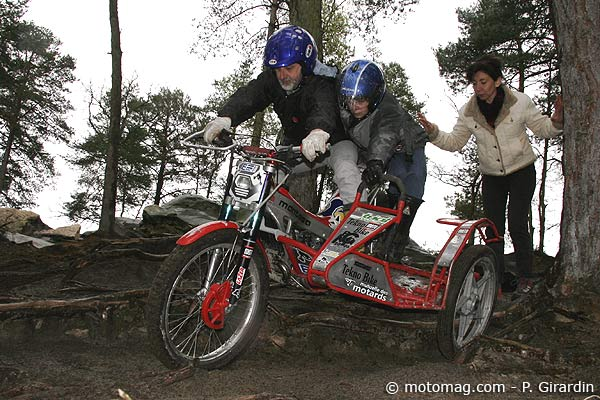 Side car trial Larchant : rencontre sur la piste