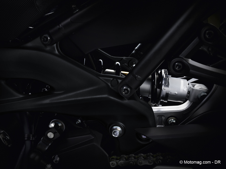 Yamaha MT-09 2016 : suspensions inchangées