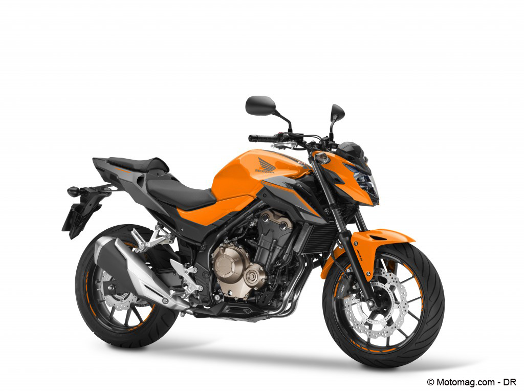 Honda CB500F 2016 coloris Orange Candy Energy