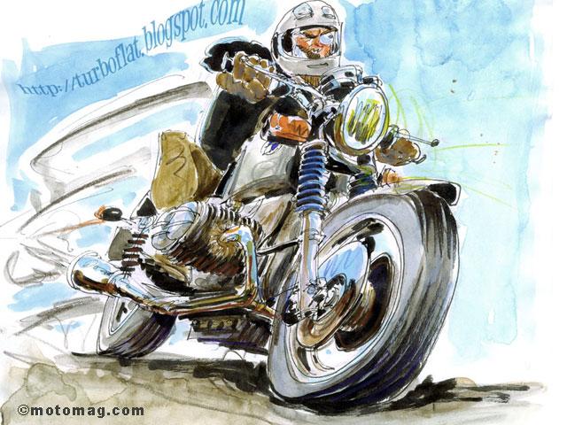 Bd philippe g rel expose chez ats paris 11e arr moto magazine leader de l actualit - Moto en dessin ...