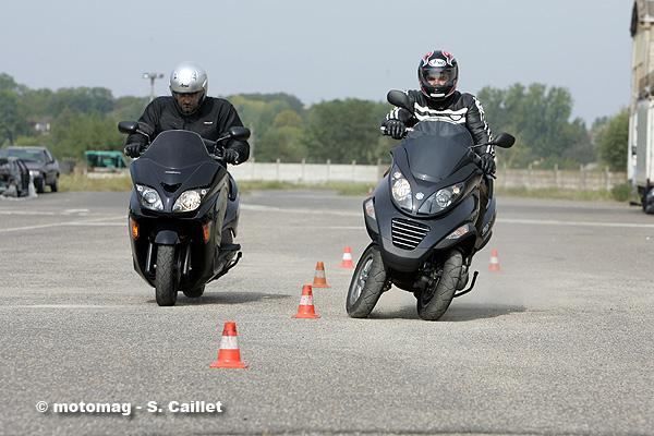 piaggio 125 mp3 - essai et mesures du scooter du troisième