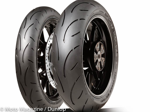 pneu moto dunlop sportsmart 2 toujours du sport mais moto magazine leader de l. Black Bedroom Furniture Sets. Home Design Ideas