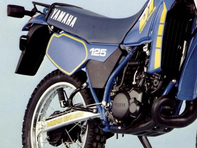 yamaha 125 dtlc 1982 92 aventuri re polyvalente moto. Black Bedroom Furniture Sets. Home Design Ideas