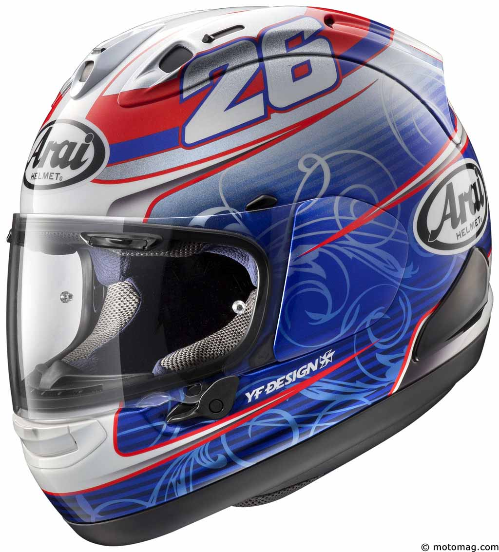 Casque Arai RX-7V : version Pedrosa