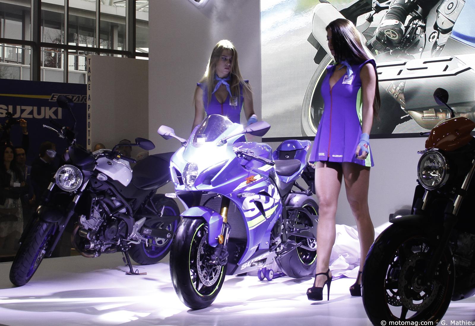 Salons moto 2015 zoom sur les suzuki en vid o moto for Salon de la moto 2017 lyon
