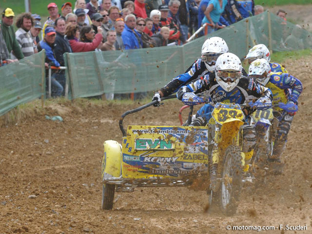 GP side-car cross : Baptiste, un pilote à la tête froide