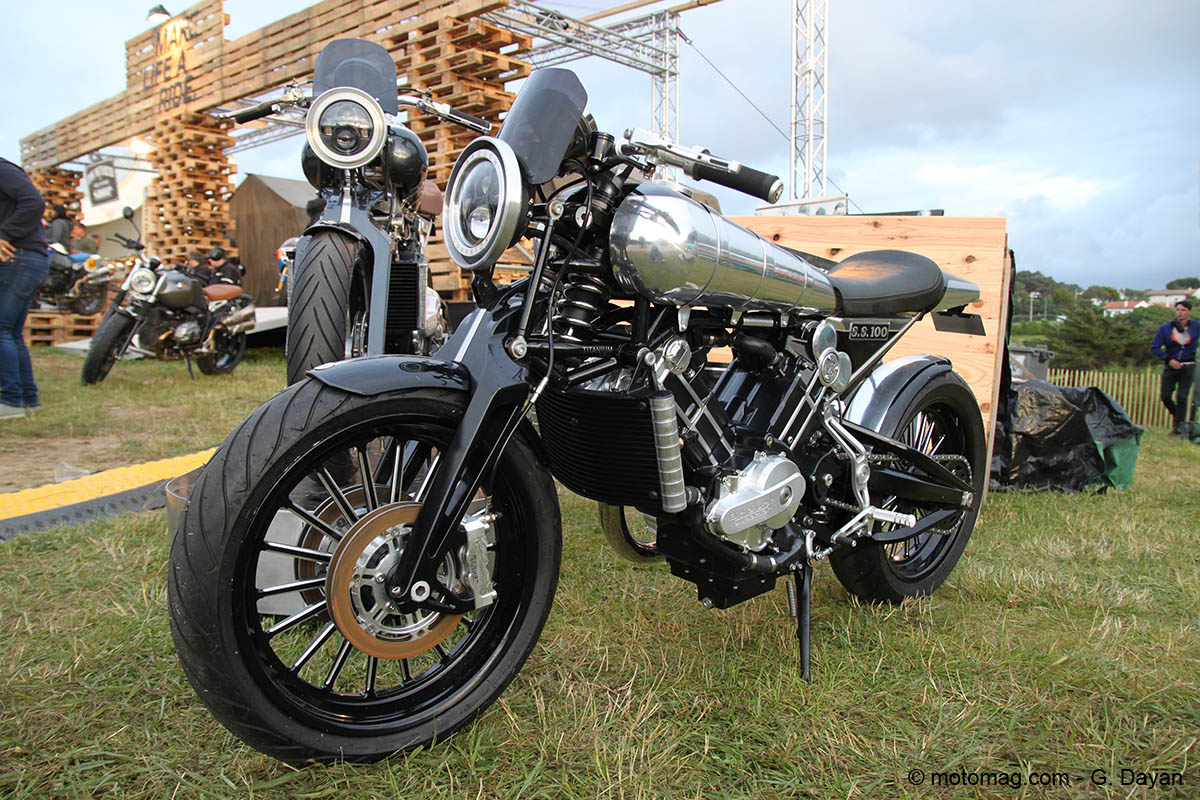 Wheels & Waves 2016 : Brough Superior SS100 néorétro