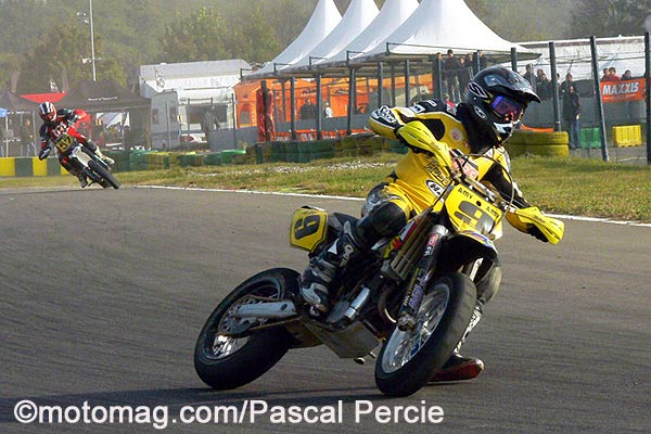 Supermotard :  Testu champion en 650