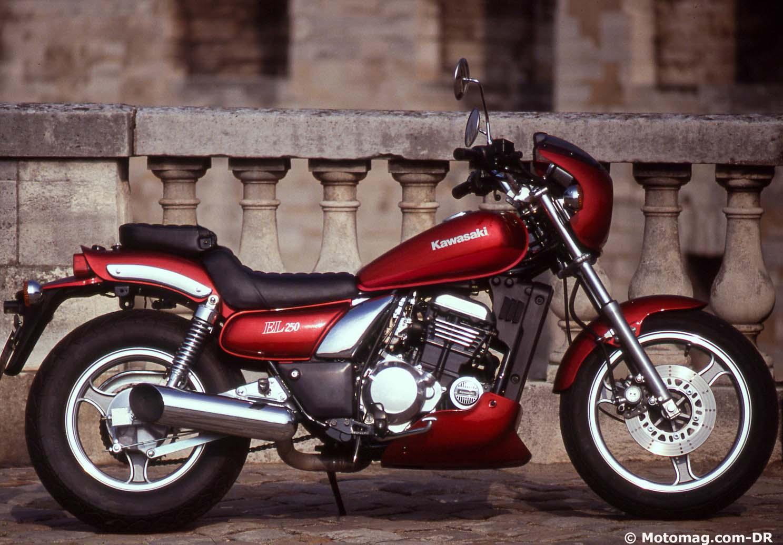kawasaki 250 el 1988 1997 custom de pointe moto magazine leader de l actualit de la. Black Bedroom Furniture Sets. Home Design Ideas