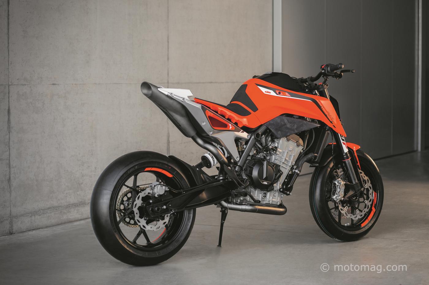 ktm 790 duke prototype prometteur pour 2018 moto magazine leader de l actualit de la moto. Black Bedroom Furniture Sets. Home Design Ideas